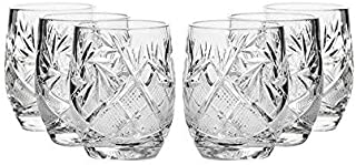 Set of 6 Neman Glassworks, 1.5-Oz Hand Made Vintage Russian Crystal Shot Glasses, Vodka Liquor Old-fashioned Glassware