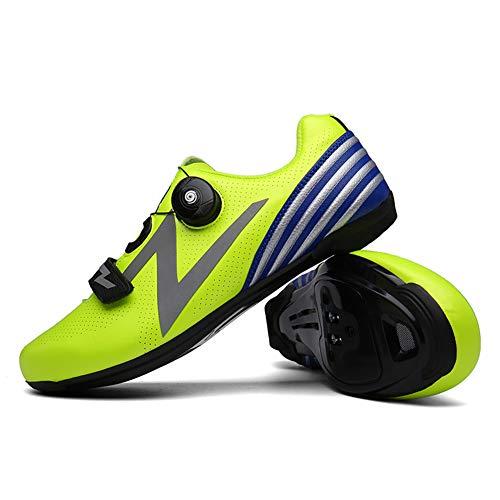Zapatillas de ciclismo de carretera para adultos unisex Zapatillas de ciclismo para bicicletas con autocierre profesional Zapatillas de spinning Bicicleta de montaña Zapatillas antideslizantes