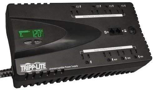Tripp Lite ECO Series ECO650LCD 325 Watts/650 VA Eco Green Battery Back Up UPS - Internal - AC 120V (Renewed)
