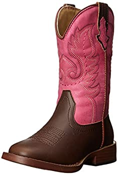 Roper Texsis Square Toe Cowgirl Boot  Toddler/Little Kid  Pink 8 M US Toddler