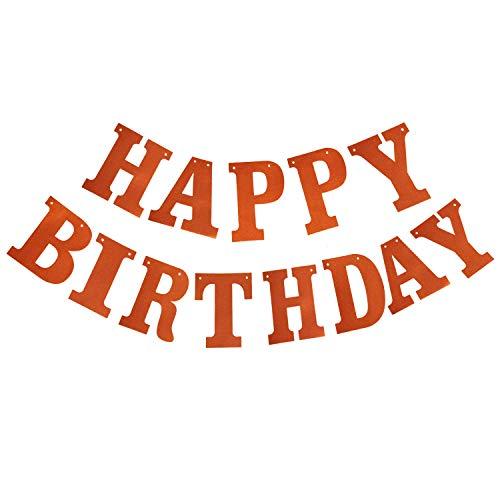 Happy Birthday Banner Orange Birthday Banner Birthday Banner Party Decoration Supplie