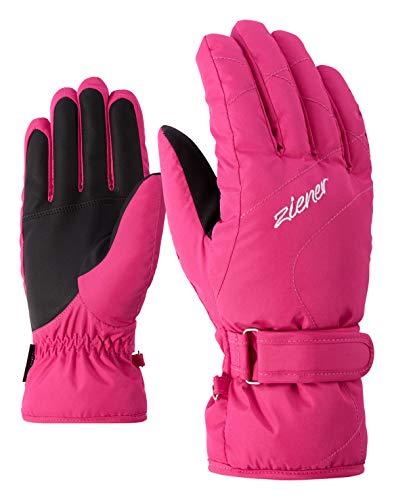 Ziener KADDY Lady - Guanti da sci da donna, colore rosa, 8 l