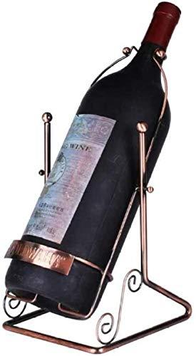 Botella de Vino Swing Single Botella de Vino Encimera Encimera Metal Estante de Vino Freestanding Gran Agleado de 3 litros 5 litros Hierro Forjado Adornos de Rack de Vino-1.5L