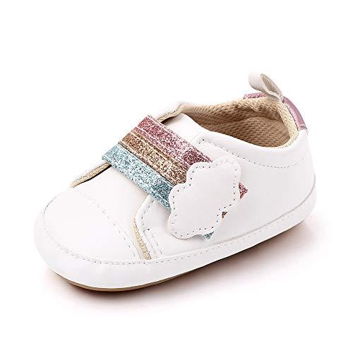 MK Matt Keely Antideslizante Suela Blanda Zapatos Bebe Primeros Pasos Bebe Zapatillas Bebe Niña Bebe Niño 6-12 Meses