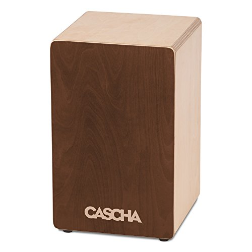 CASCHA Cajon Box Brown, Handtrommel für Einsteiger und Anfänger, mit Snare-Sound, hochwertiger...