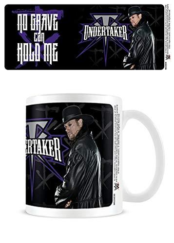 1art1 Lucha Libre, WWE Undertaker - No Grave Taza Foto (9x8 cm) Y 1x Pegatina Sorpresa