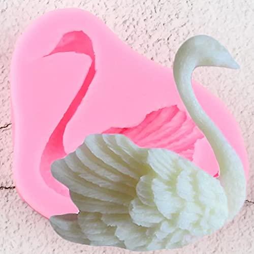 YAJIAO Kuchenschablone Silikonform 3D Schwan Silikonform Hochzeit Cupcake Topper Fondant Kuchen DekorationswerkzeugePolymer Clay Candy Schokolade Gumpaste Formen