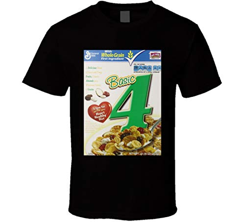 Basic 4 Cereal Food Logo Gift Camiseta Negro