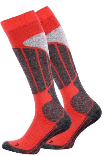 VCA SKI und SNOWBOARD Socken - Kniestrümpfe, mit Spezial Polsterung, Unisex für Damen und Herren - Cottonprime