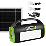 UPEOR Solar Generator Lighting System Portable Solar Power Generator Kit for Emergency Power...