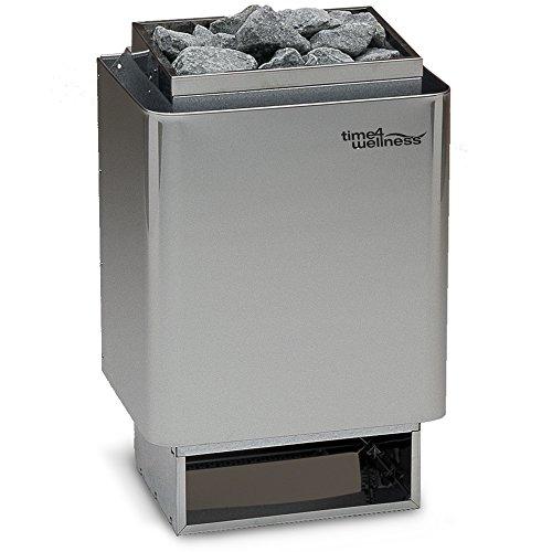 Saunaofen EOS 34A 6 kW inkl. 15kg Steine, Außenmantel Edelstahl, Wandofen, Made in Germany