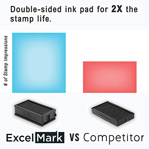 ExcelMark Large Return Address Stamp - Up to 5 Lines - Custom Self Inking Rubber Stamp - Customize Online with Many Font Choices - Large Size Photo #2