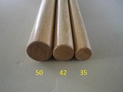 330cm 4 Edelstahl-Halter Eiche Handlauf mit Holz-Halbkugel und Edelstahlhalter in verschiedenen L/ängen