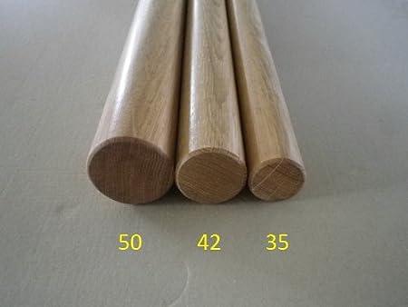 Eiche Handlauf gefast mit Edelstahlhalter in verschiedenen L/ängen 070cm 2 Edelstahl-Halter