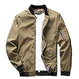 sandbank Men's Slim Fit Lightweight Sportswear Flight Bomber Jacket Softshell Casual Coat (US 3XL¡ê?Khaki)
