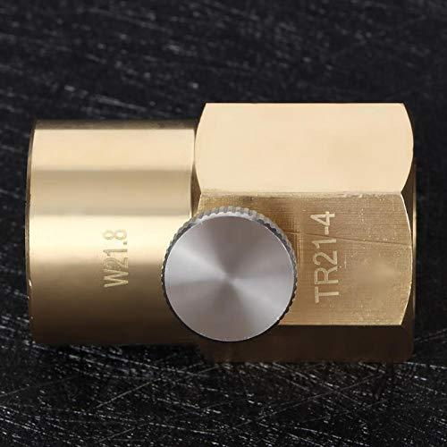 Adaptador de soda CO2 Adaptador de recarga de CO2 Latón Buen sellado Sin fugas de gas Duradero para agua(W21.8 to TR21.4)