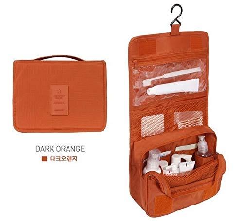 Gros Cubes d'emballage Mode étanche Voyage Capacité Sac de Rangement Crochet Portable Trousse de Toilette cosmétiques Accessoires de Mode Voyage (Color : Orange)