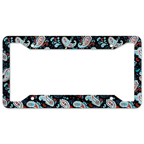 Bohohobo Flower License Plate Frame 4 Pieces Design License Plate Frame With 4Holes Fite For Garage white 16x31cm