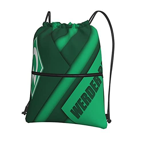 Wer-Der Brem-En Bedruckte Sporttasche Sporttasche Reisetasche Schuhtasche Rucksack Einkaufstasche Kordelzug Rei?Verschluss Rucksack