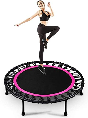 JNWEIYU Fitness Trampoline with Foldable Fitness Trampoline, Upgraded 40' Yard Trampolines Gym Rebounder for Indoor Outdoor Cardio Fitness Rebounder Durable Silent with Premium