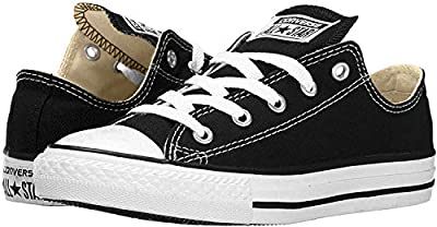 Converse Chuck Taylor All Star Low Top, Black White/Canvas, 8.5 Women/6.5 Men