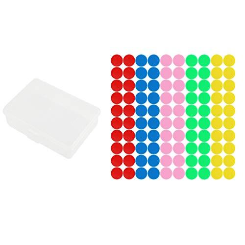 SUPVOX fichas de Bingo marcadores de Bingo 100 Piezas fichas de conteo de Colores Negro / Blanco / púrpura / Naranja / Mixto...