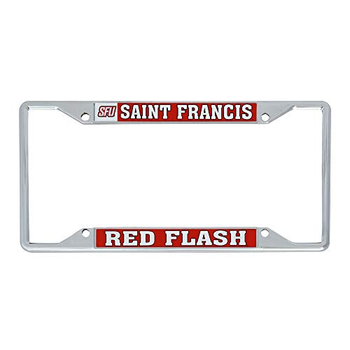 Desert Cactus Saint Francis University SFU Red Flash NCAA Metal License Plate Frame for Front or Back of Car Officially Licensed (Mascot)