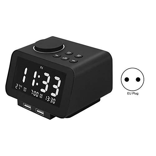 Lazmin Despertador LED Inteligente K8, Reloj Despertador de Radio Inteligente electrónico Innovador Junto a la Cama(EU Plug)