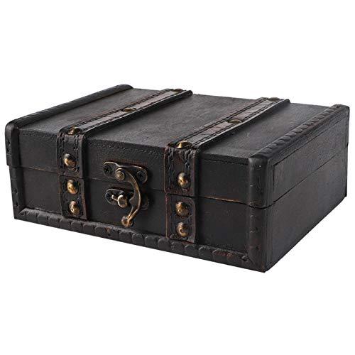 Yeelur Caja de Almacenamiento pequeña Caja de Almacenamiento con Cerradura Caja de Almacenamiento al Aire Libre, Caja de Almacenamiento de Joyas Prácticas Cajas de(6273-01-do Old Gray)