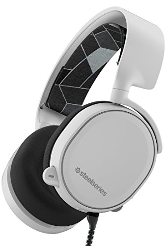 SteelSeries Arctis 3 (Edición Legado) - Auriculares para juego, PC, Mac, PlayStation 4, Xbox One, Nintendo Switch, Móvil, VR, color Blanco