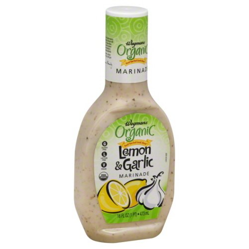 Wegmans Organic, Lemon & Garlic Marinade 16oz. (Pack of 2)