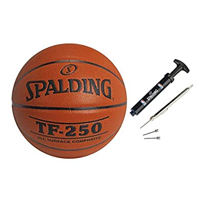 Spalding TF-250 29.5-Inch Composite Basketball with Maintenance Kit Bundle (2 Items)