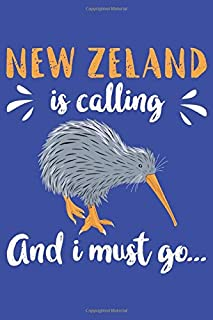 New Zealand Is Calling And I Must Go: Graph Paper Notebook ToDo Exercise Book (15.24 x 22.86 cm) with 120 pages for travel...
