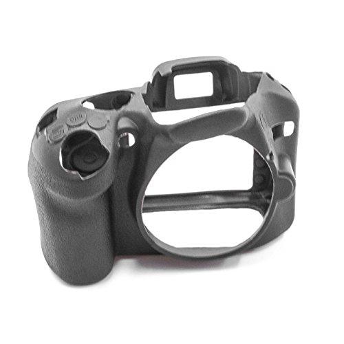 vhbw cámara Cubierta Bolsa Compatible con Nikon D3100 cámara - Silicona Negro