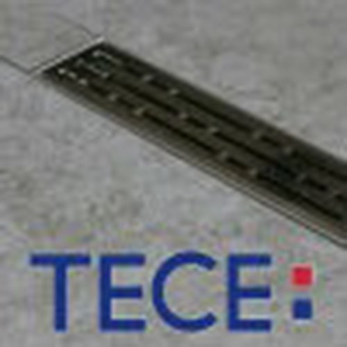 TECE Drainline Duschrinne Komplettset / Duschrinnen Designrost Basic Dusch-Ablaufrinne, Länge § tece baulänge:900 mm