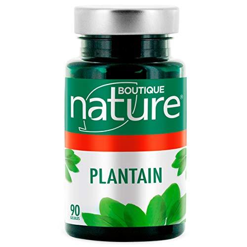 Boutique Nature - Complément Alimentaire - Plantain - 90 Gélules Végétales - Aide les voies respiratoires à se clarifier