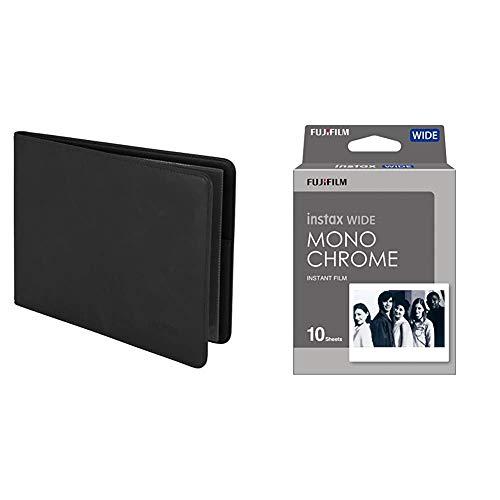 Fujifilm Album de fotos Instax Wide + Instax Wide Monochrome - Película instantánea, color negro
