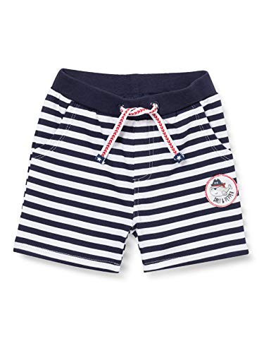 SALT AND PEPPER Baby-Jungen Bermuda Ahoy Stripes Stick Bermudas, Navy, 74