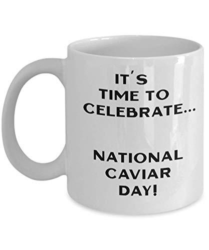 N\A Tazas de café novedosas del Día Nacional del Caviar, Divertidos y extraños Regalos navideños, decoración de Tazas, hallazgos interesantes, Hombres o Regalos de Broma para Mujeres