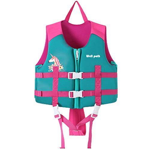Gogokids Kids Swim Vest Folat Jacke, Kleinkind Schwimmtraining Bouyancy Badeanzug Assist Badebekleidung für 17-77 lbs 1-3 Jahre Baby Kids