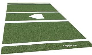 Premium 12' X 6' Baseball/Softball Hitting Mat in Green- 5mm Foam Backing