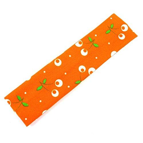 rougecaramel - Accessoires cheveux - Bandeau enfant motif cerise - orange