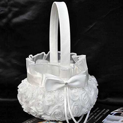 Cestas de flores para bodas Canasta de niña de las flores for la cere