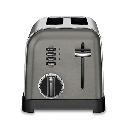 Cuisinart Metal Classic Toaster, 2-Slice, Black Stainless