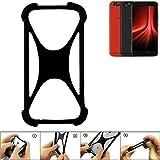 K-S-Trade Handyhülle für UMIDIGI Z1 Pro Schutz Hülle Silikon Bumper Cover Case Silikoncase TPU Softcase Schutzhülle Smartphone Stoßschutz, schwarz (1x)