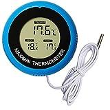 Soapow Termómetro digital LED para acuarios de alta precisión de agua terrario medidor de temperatura para pecera estanque reptil
