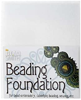 Beadsmith Beading Foundation for Embroidery White 8.5