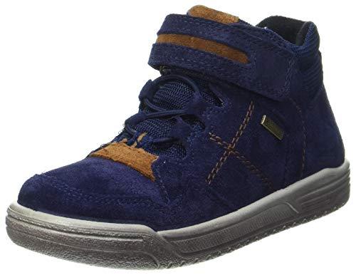 Superfit Jungen Earth Sneaker, Blau Braun 8000, 28 EU Weit
