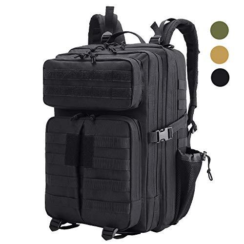 LHI 45L 900D Wasserabweisender taktischer Rucksack Military 3P Rucksack für den täglichen Gebrauch und Outdoor-Aktivitäten, schwarz, Large