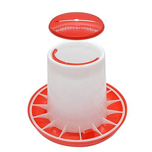 Gaddrt Automatisierte Futterspender für Hähnchen Feeder 1,5 kg Plastikfutterautomat Chicken Chick Hen Geflügeldeckelgriff Feederuten